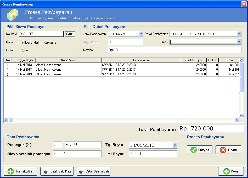 software pembayaran SPP