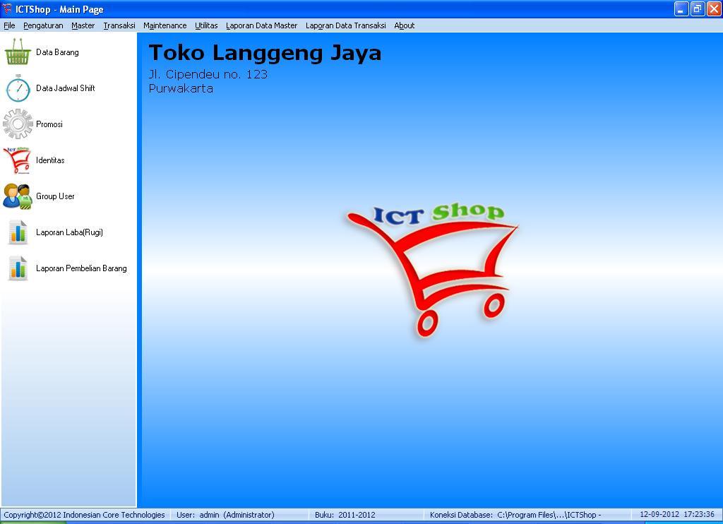 Program Penjualan, Aplikasi Toko