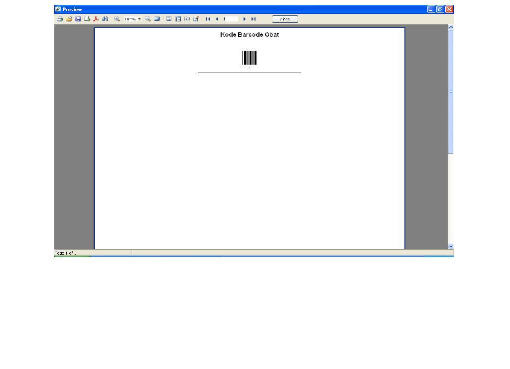 Software Apotek - Cetak Barcode satu Obat