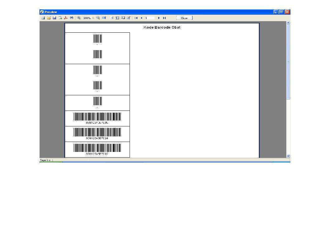 Software Apotek - Cetak Barcode semua Obat